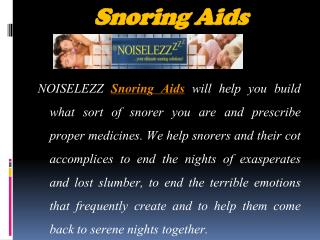 Effective Clarification for Snoring Problems