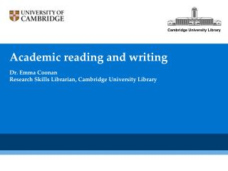 Academic reading and writing