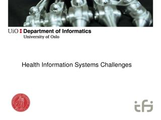 Health Information Systems Challenges
