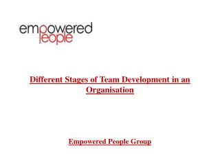Different Stages of Team Development in an Organisation