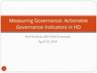 Measuring Governance: Actionable Governance Indicators in HD