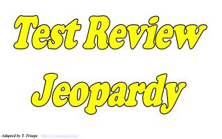 Test Review Jeopardy