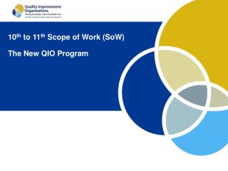 10 th  to 11 th  Scope of Work (SoW) The New QIO Program