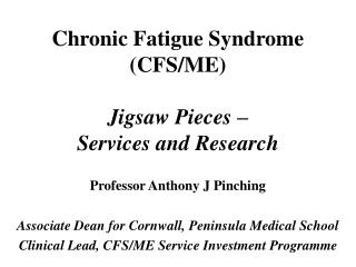 Chronic Fatigue Syndrome CFS