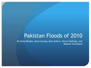 Pakistan Floods of 2010