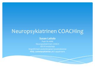 Neuropsykiatrinen  COACHing