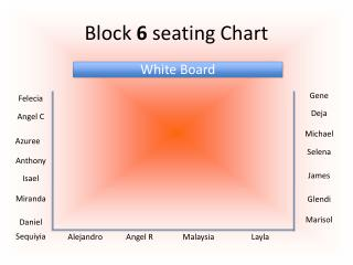 Block  6  seating Chart