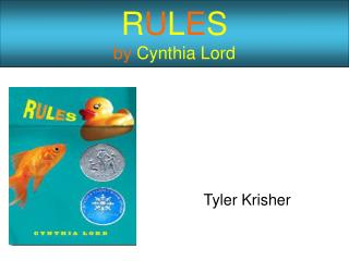 R U L E S by Cynthia Lord