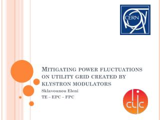 Mitigating power fluctuations on utility grid created by klystron modulators
