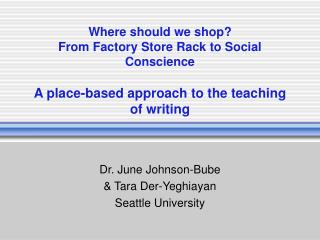 Where should we shop? From Factory Store Rack to Social Conscience A place-based approach to the teaching of writing