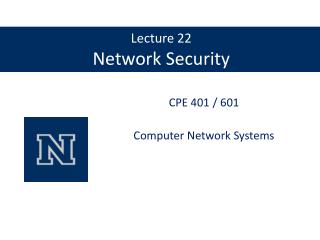 Lecture 22 Network Security