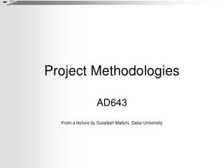 Project Methodologies
