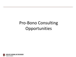 Pro-Bono Consulting Opportunities