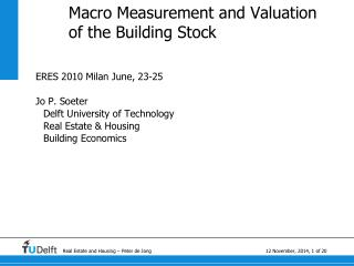 Macro Measurement and Valuation of the Building Stock