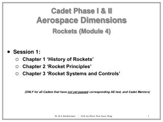 Cadet Phase I  II Aerospace Dimensions  Rockets Module 4