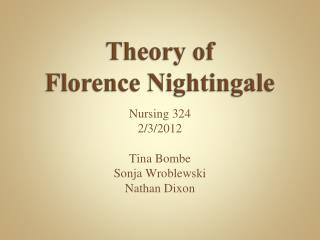 Theory of Florence Nightingale