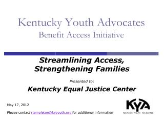 Kentucky Youth Advocates Benefit Access Initiative