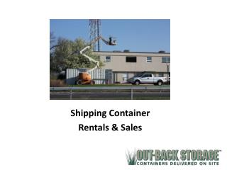 Shipping Container Rentals & Sales