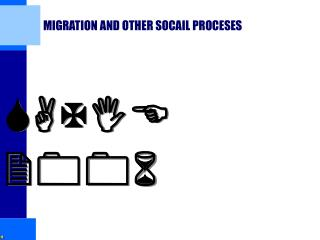 MIGRATION AND OTHER SOCAIL PROCESES
