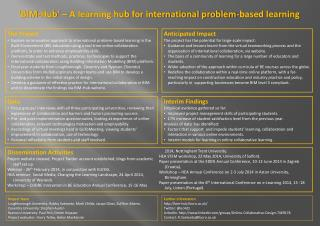 'BIM-Hub' –  A learning hub for international problem-based learning