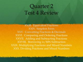 Quarter  2 Test  4  Review