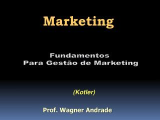 Fundamentos  Para Gestão de Marketing