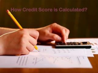 How Credit Score is Calculated?