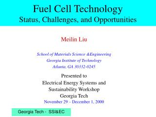 Fuel Cell Technology Status, Challenges, and Opportunities