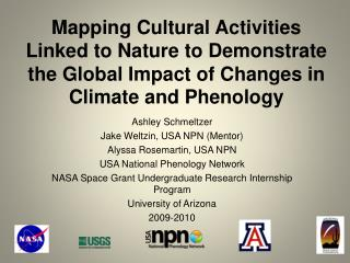 Ashley Schmeltzer Jake  Weltzin , USA NPN (Mentor) Alyssa  Rosemartin , USA NPN
