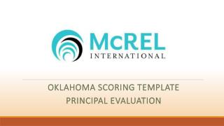 Oklahoma Scoring Template Principal Evaluation