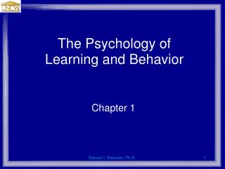 The Psychology of Learning and Behavior