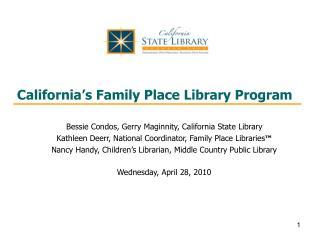 California's Family Place Library Program