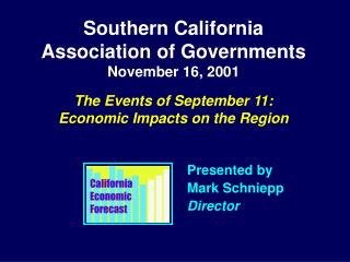 Southern California  Association of Governments November 16, 2001 The Events of September 11: Economic Impacts on the Re