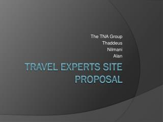 TraVEL eXPERTS  SITE Proposal