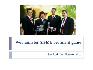 Westminster SIFE Investment game