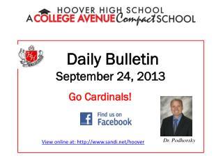 Daily Bulletin September 24, 2013