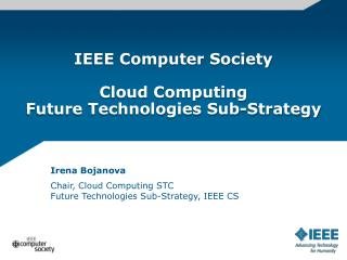 IEEE Computer Society Cloud Computing Future Technologies  Sub-Strategy