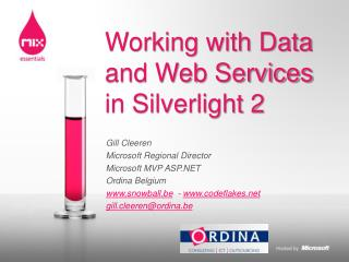 Working with Data and Web Services in Silverlight 2