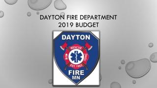 Dayton Fire department 2019 Budget