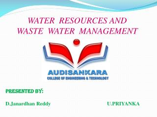 WATER  RESOURCES AND WASTE  WATER  MANAGEMENT