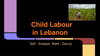 Child Labour in Lebanon