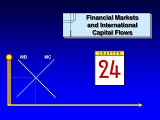 Financial Markets and International Capital Flows
