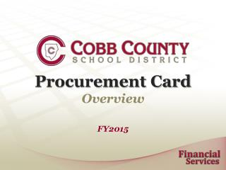 Procurement Card  Overview