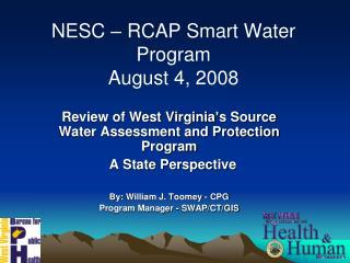 NESC – RCAP Smart Water Program August 4, 2008