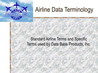 Airline Data Terminology