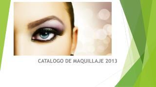 CATALOGO DE MAQUILLAJE 2013
