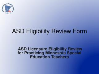 ASD Eligibility Review Form