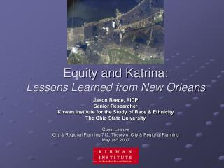 Equity and Katrina: Lessons Learned from New Orleans