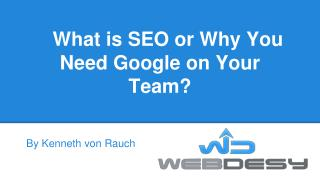 What is SEO or Why You Need Google on Your Team?
