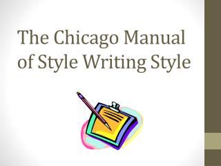 The Chicago Manual of Style Writing  Style